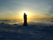 Alpine conditions on summit of Ben