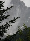 Rock fall on the Dru, Chamonix