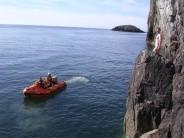 DWS climber surprised on Gogarth