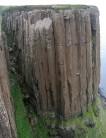 Pippa on Grey Panther (E1 5b), on the amazing Kilt Rock, Isle of Skye, Scotland