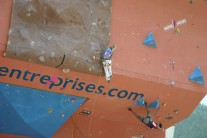Qualifying for the Climbing World Cup.
