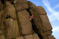 Alex Mason, Tower Chimney, E1 5b, Stanage Plantation
