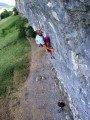 Steve McClure, first redpoint of Magnetic North 8c+, Kilnsey<br>© Al Austin