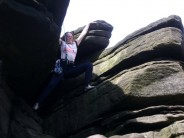 And....stretch!    Accessory Chimney D, Stanage Popular