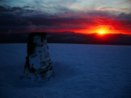 Sun set from Helvellyn