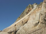 An exhilarating solo of The Devil's Slide, my 400ft intro to Lundy<br>© Paul Phillips - UKC and UKH