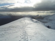looking south from the achaladair ridge