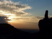 Evening light at Wainstones