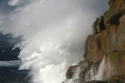 Wave breaking over Sennen<br>© stuart100