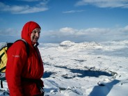 Peter on top of Cul Mor and Suilven