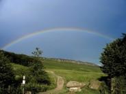Rainbow over Stanage
