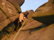 eppa at the Roaches, around sunset. My first ever lead and time on real rock.