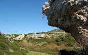 Ali on a 7b on the Wolf's Head, Isili, Sardinia<br>© Jamie Moss