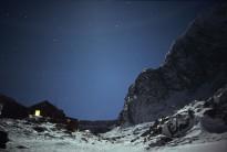 CIC hut at night