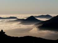 Yr Aran centred  in cloud inversion Christmas Eve lr 2006