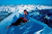 On the Summit of Mount Athabasca after winter ascent of North Face<br>© DesperateDan