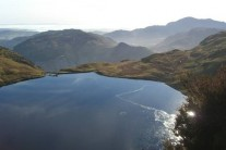 Stickle Tarn and Langdale from Pavey Ark