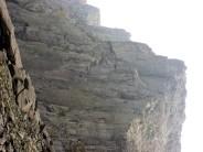 Unknown climbers on the East Buttress of Clogwyn Du'r Arddu.