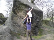 Jay also on 'The Slot' at Wimberry Boulders!