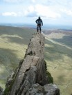 Ally on amphitheatre buttress
