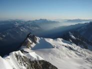 Alpine haze - looking to the Midi