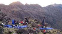 Getting ready for a good nights sleep on the ridge!!