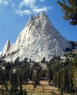 cathedral peak, tuolumne meadows, and route from the approach