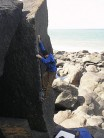 F.E.A.R. (Mike eyeing up the crux finishing moves)