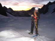 On the plod up the Glacier Blanc