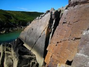 Unknown climbers at Porth Clais