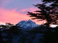 Mount Garibaldi, Squamish, BC Canada at sunrise from half way up the Stawamus Chief