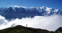 Mont Blanc from Aguille Rouge