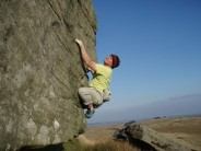 Graham Derbyshire on Bass Special (5a), Goldsborough Carr