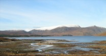 Ben Alder from shore of Loch Ericht