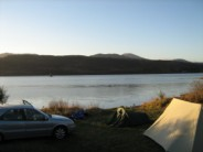 Wild(ish) camp on shore of Loch Rannoch