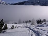 Breaking through the cloud inversion Massif de Devouly