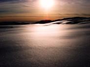 Sunseton Snow fields(above Loch Ossian)