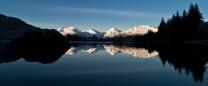 The Arrochar Alps from Loch Arklet