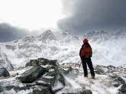 Looking across from Left ridge of Stob coire nan Lochan,