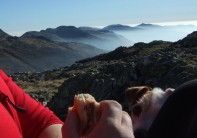 A sunny day on Scafell pike