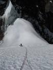Jonathan Preston on first ascent of the South Ridge of Cornice (5560m) D, Cordillera Carabaya, Peru