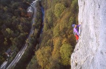 Chris Jackson at the crux of Debauchery, High Tor