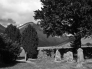 View of Great Gable from St Olaf's church Wasdale