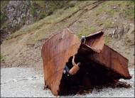 Shipwreck of a flake