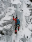 NMM on the Icefall of Salamander Gully (III/IV?)