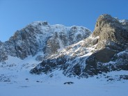 The North face of the Ben in full spring ice glory