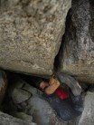 """Tom making the first ascent of """"Slave"""" Orco Valley"""