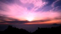 Merapi Java 4am/ 3000m - Sun rise over Solo