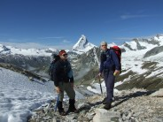 On route to Mettelhorn with the Matterhorn in the background