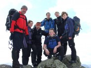 With friends on Great Gable